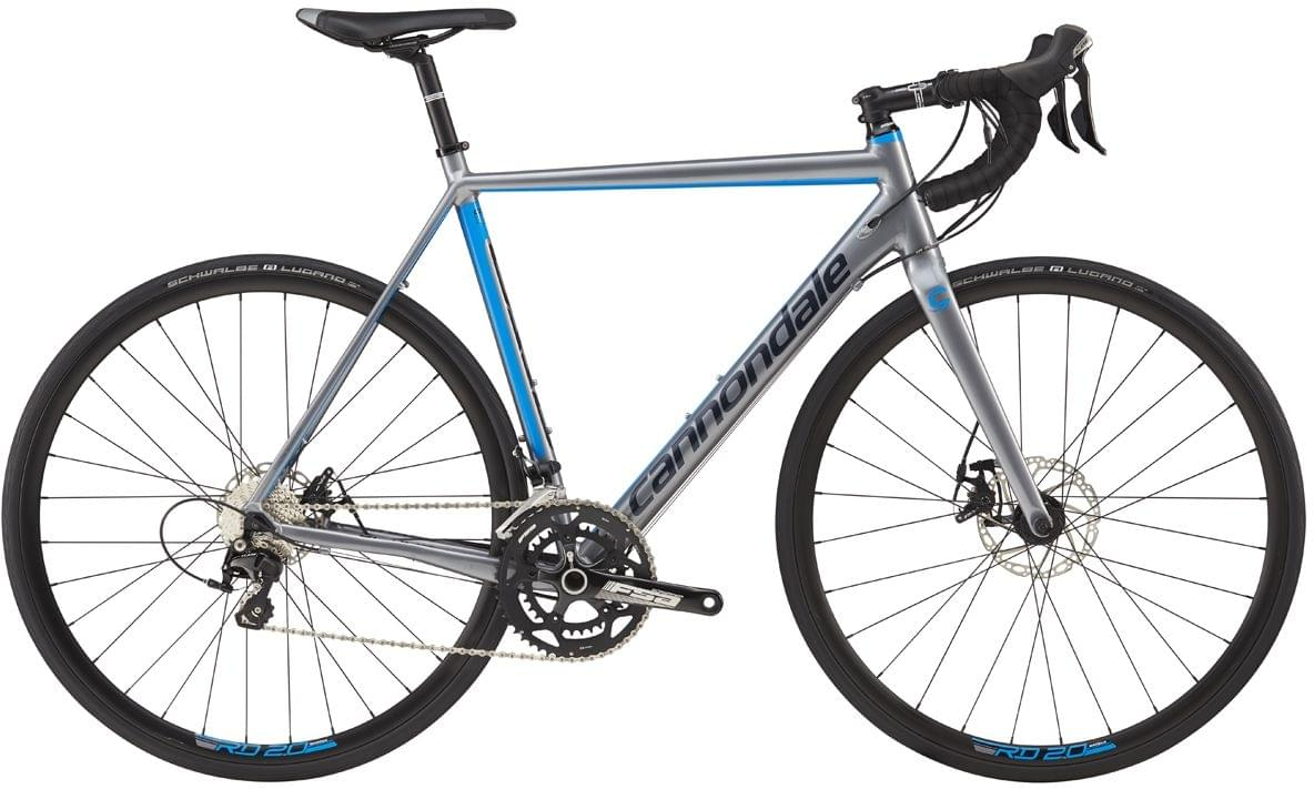 Cannondale CAAD Optimo 105 Disc - cloudburst gray w/niagra blue and midnight blue gloss 56