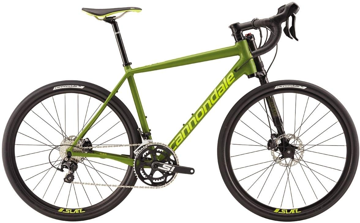 Cannondale Slate 105 - army green w/neon spring matte L