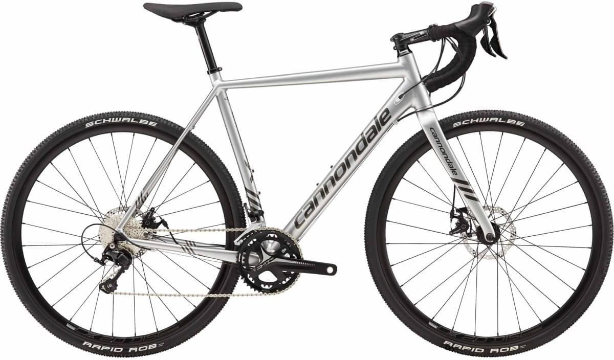 Cannondale CAADX 105 - Fine Silver w/ Anthracite - Gloss (SLV) 58