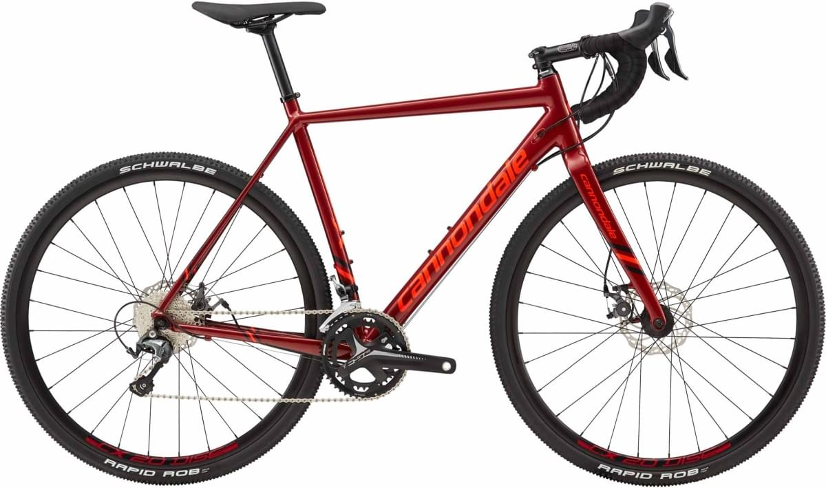 Cannondale CAADX Tiagra - Fire Red w/ Jet Black and Acid Red - Gloss (FRD) 58