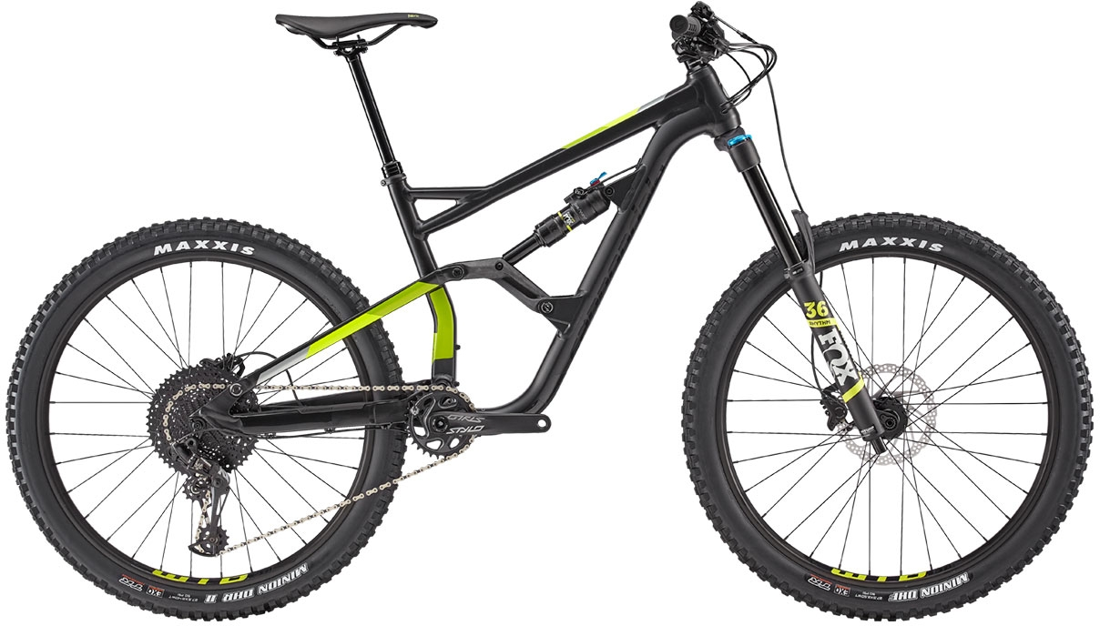 Cannondale Jekyll 3 27.5 - Black Pearl w/ Acid Green, Volt and Sage Gray - Satin (BLK) S