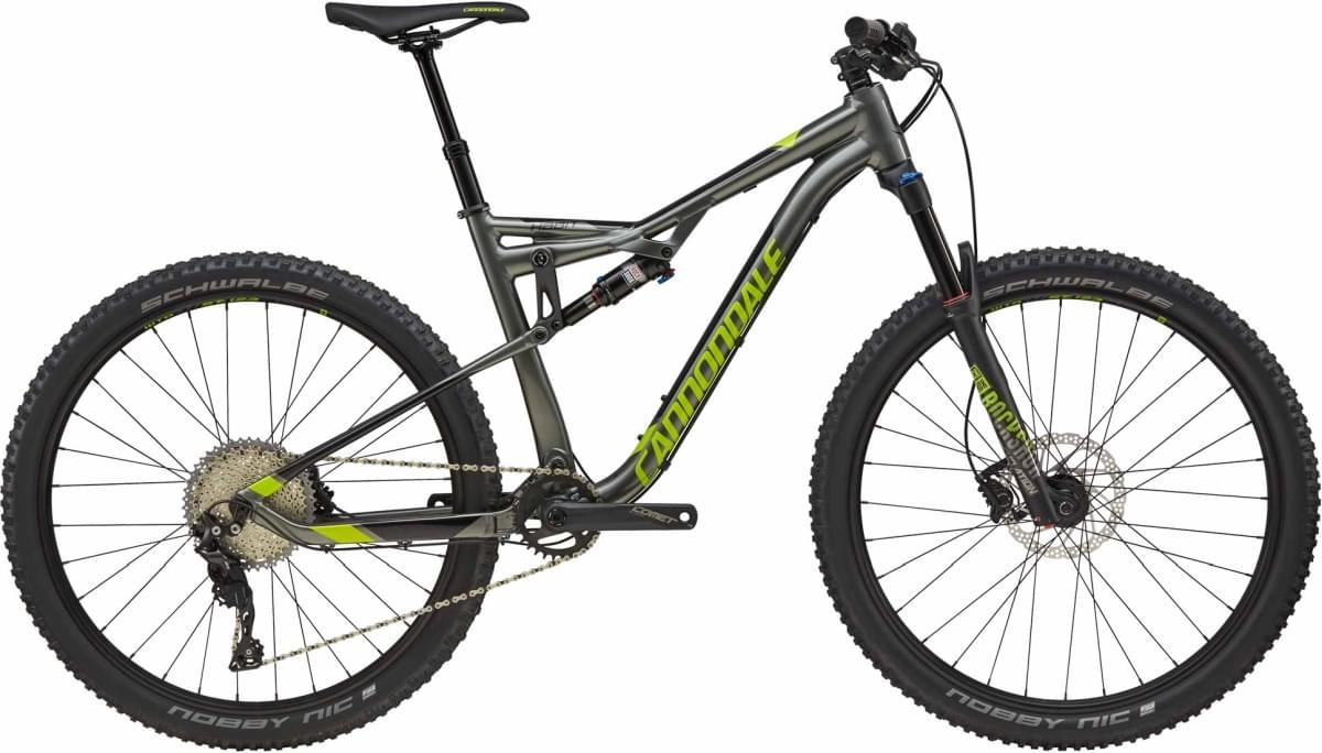Cannondale Habit 4 - Charcoal Gray w/Acid Green and Jet Black - Gloss (GRY) M