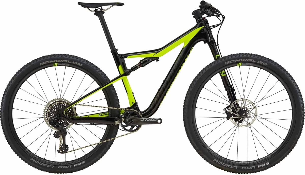 Cannondale Scalpel-Si Carbon 1 - Jet Black w/ Volt and Anthracite - Gloss (VLT) M