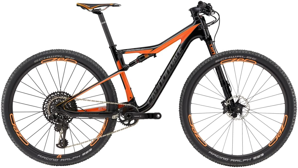 Cannondale Scalpel-Si Carbon 2 - Jet Black w/ Hazard Orange and Anthracite - Gloss (ORG) M