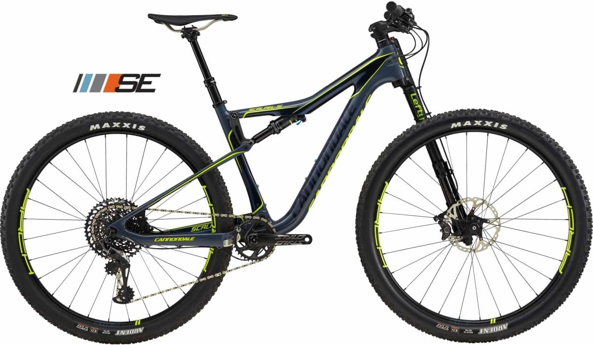 Cannondale Scalpel SE 1 - Slate Blue w/ Midnight Blue and Volt - Gloss (SLA) M