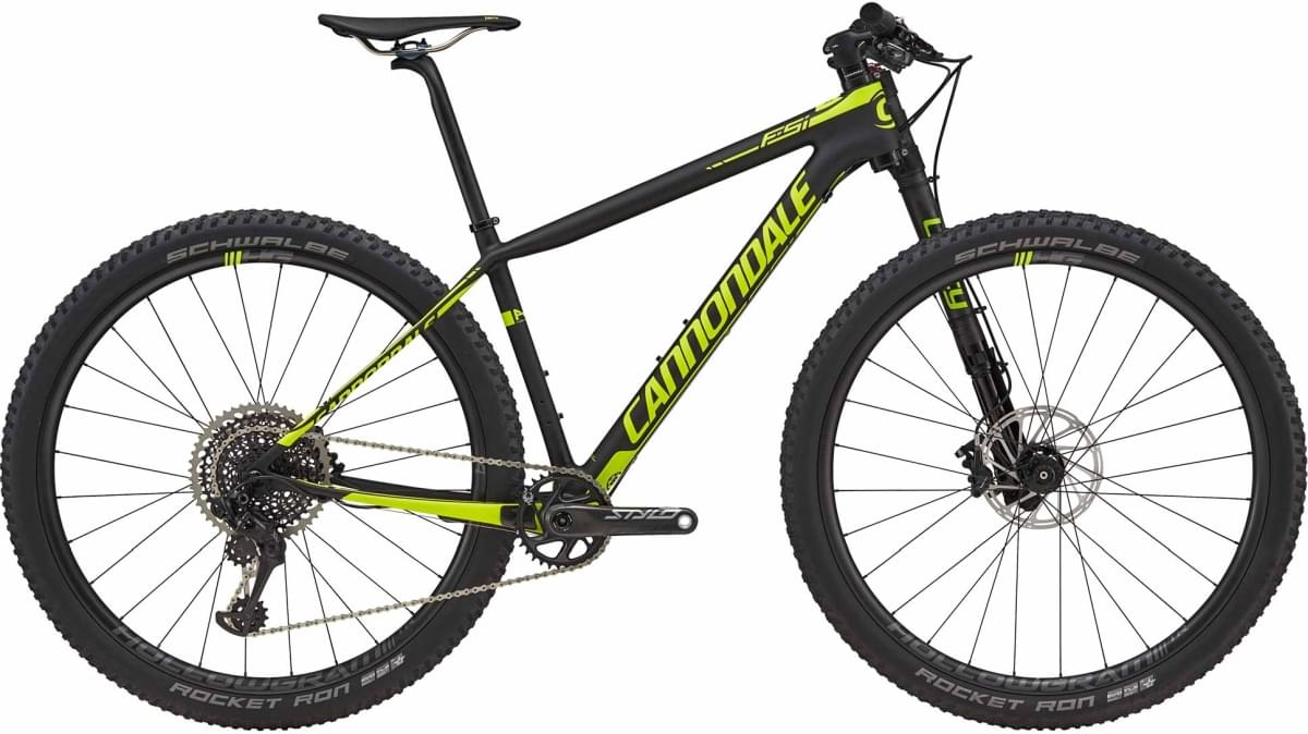 Cannondale F-Si Carbon 1 - Jet Black w/ Volt – Satin (BBQ) XL
