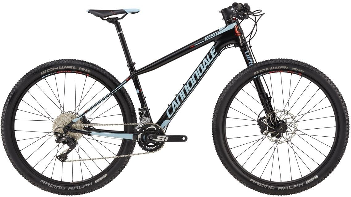 Cannondale F-Si Carbon Womens 2 - jet black w/acid red and atmosphere blue gloss S