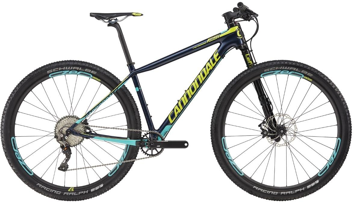 Cannondale F-Si Carbon 2 - midnight blue w/neon spring, turquoise gloss L