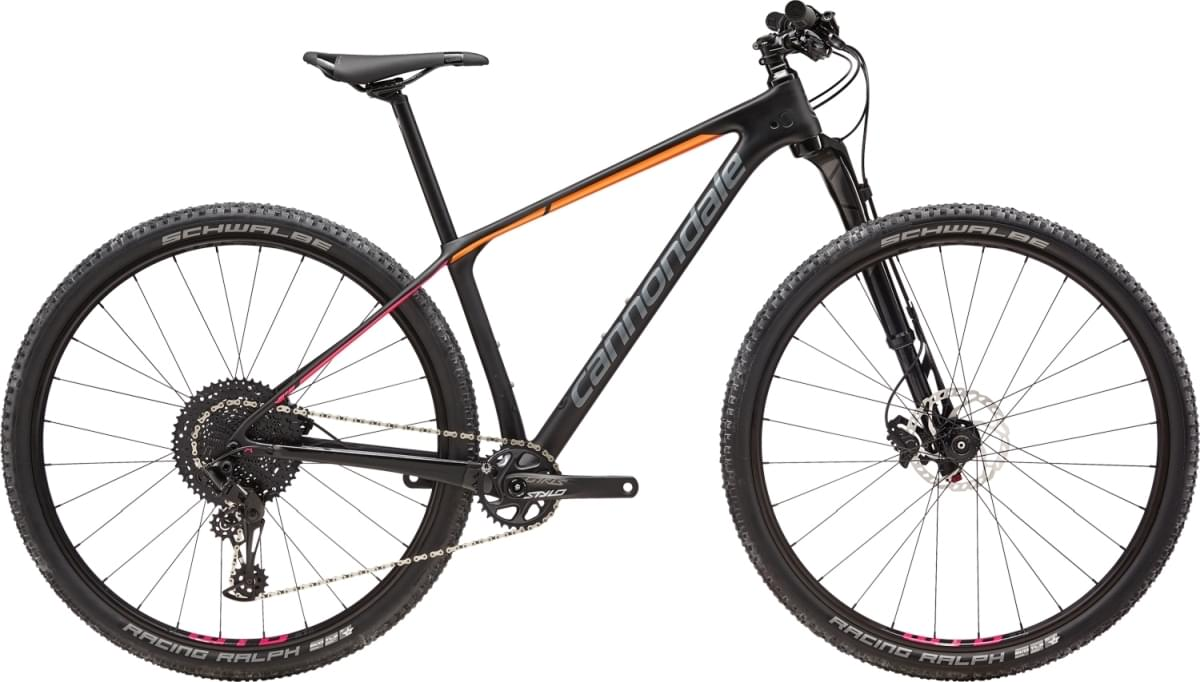 Cannondale F-Si Carbon Women's 2 - Black Pearl w/ Tangerine and Acid Strawberry - Satin (BBQ) S