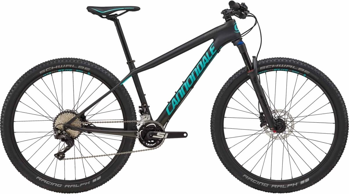Cannondale F-Si Carbon Women's 2 - Jet Black w/ Anthracite and Turquoise - Satin (BBQ) M