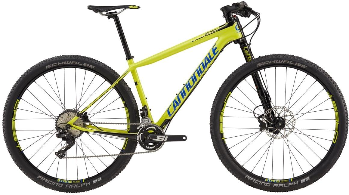 Cannondale F-Si Carbon 3 - neon spring w/jet black and cerulean gloss XL