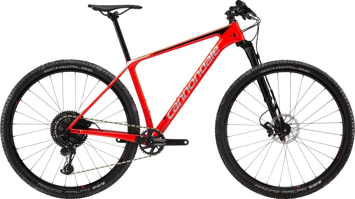 Cannondale F-Si Carbon 3 - Acid Red w/ Jet Black and Fine Silver - Gloss (ARD) XL