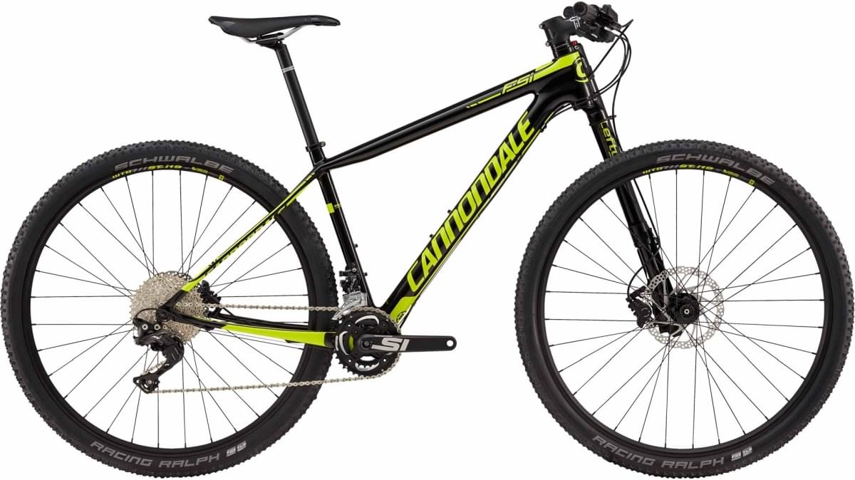 Cannondale F-Si Carbon 4 - Jet Black w/ Neon Spring - Gloss (BLK) XL