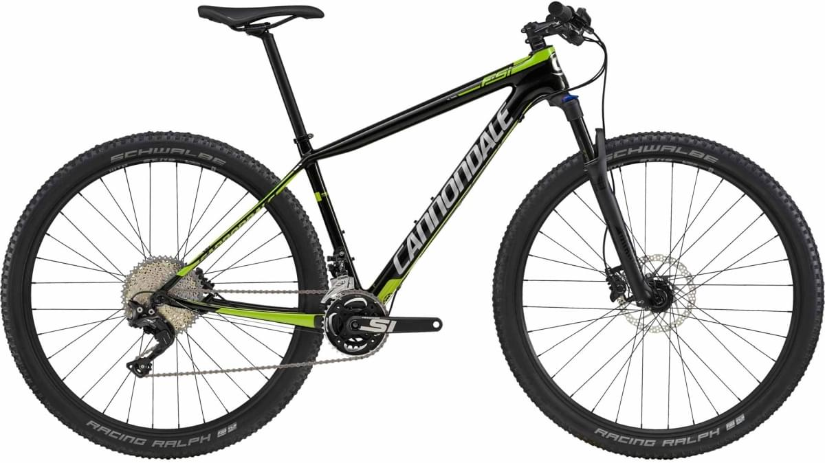 Cannondale F-Si Carbon 5 - Jet Black w/ Cannondale Green and Fine Silver - Gloss (REP) M
