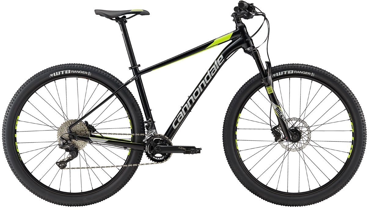 Cannondale Trail 2 - Jet Black w/ Fine Silver and Volt - Gloss (BLK) L