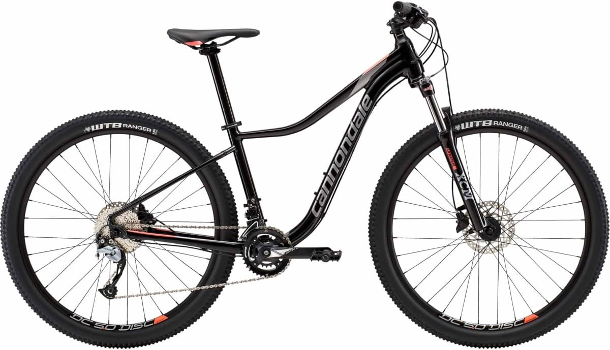 Cannondale Trail Women's 2 - Jet Black w/ Ash Gray and Coral - Satin (BBQ) S