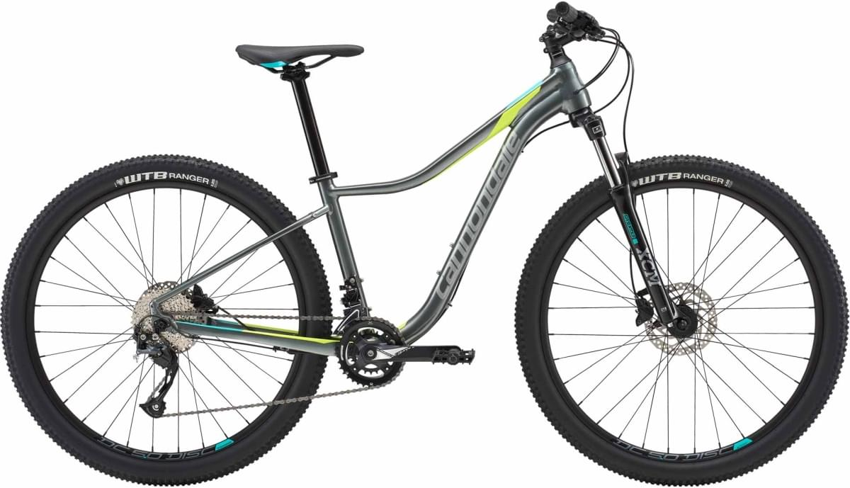 Cannondale Trail Women's 3 - Charcoal Gray w/Fine Silver, Turquoise and Volt - Gloss (GRY) S