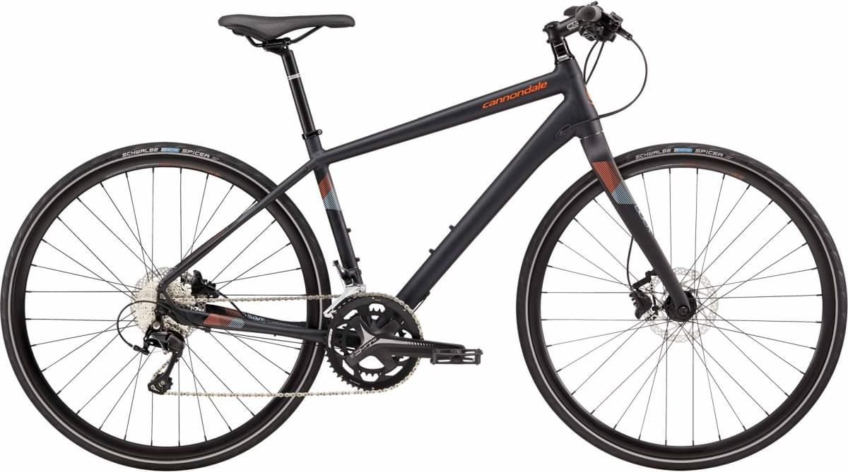 Cannondale Quick 1 Disc - Darkest Blue w/ Hazard Orange, Atmosphere, and Reflective Detail - Matte ( L