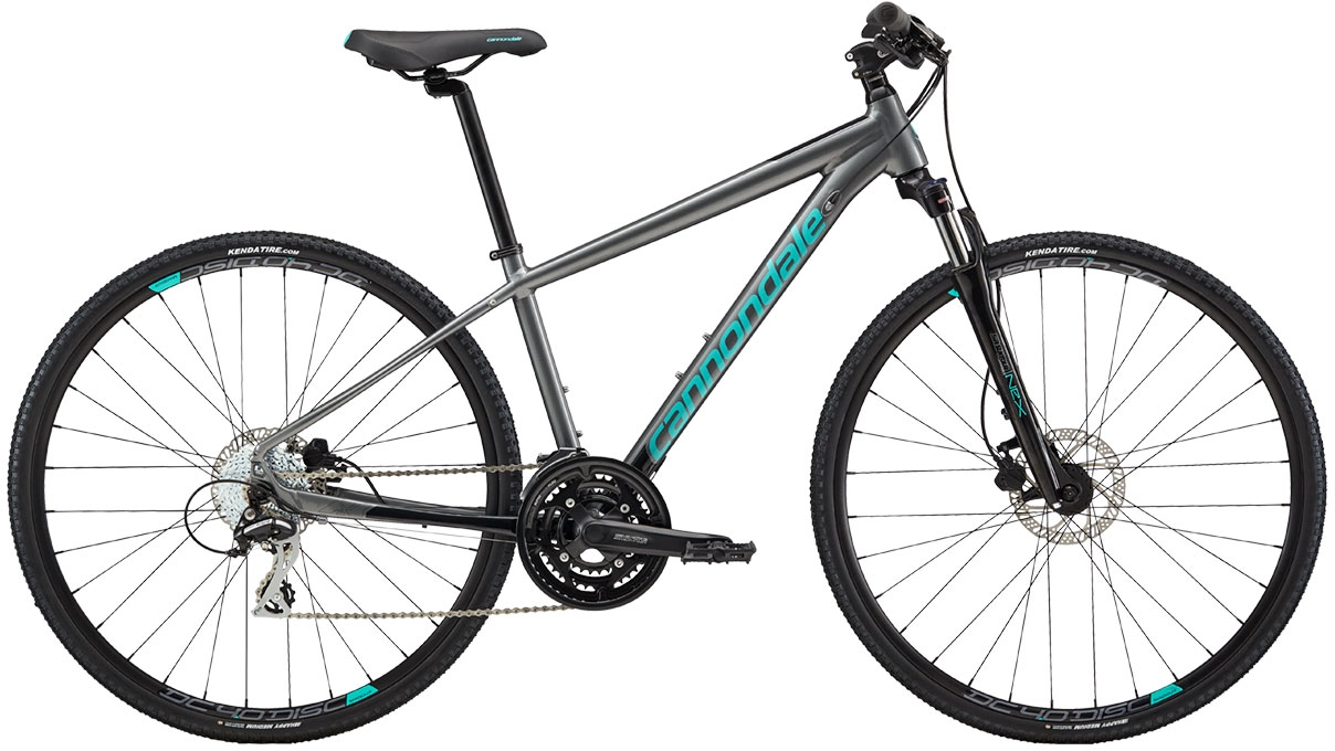 Cannondale Althea 3 - Charcoal Gray w/ Jet Black and Turquoise - Gloss (GRY) M