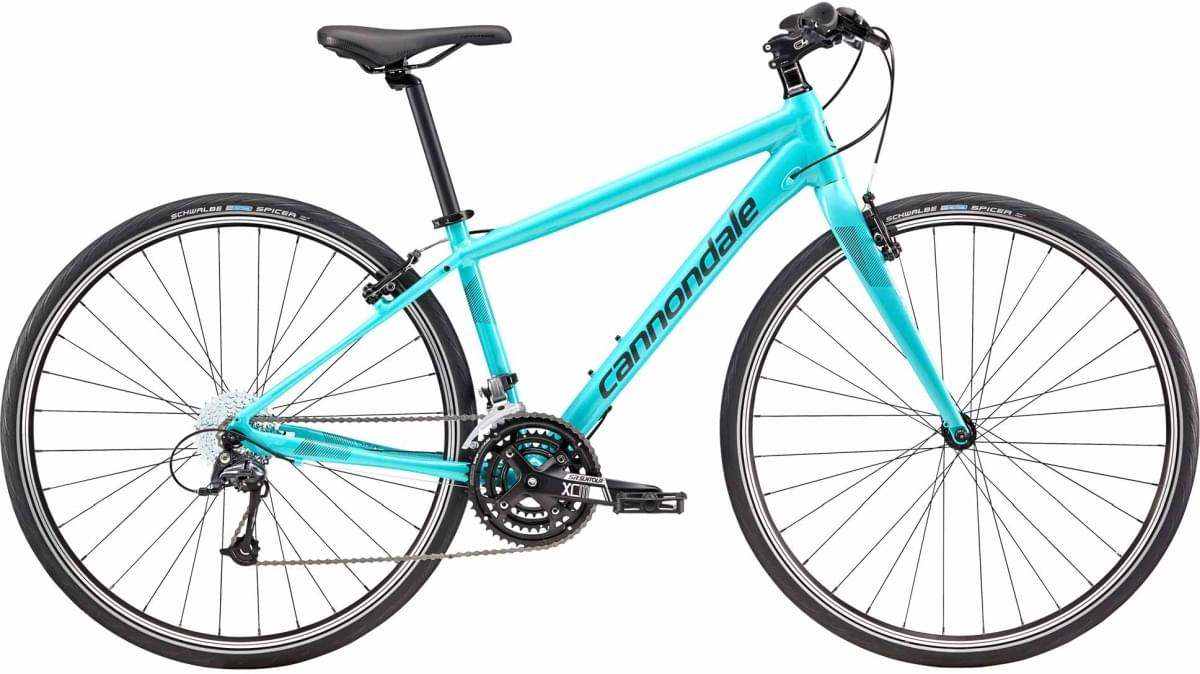 Cannondale Quick 4 Women's - Turquoise w/ Nearly Black, Teal, Reflective Detail - Gloss (TRQ) T