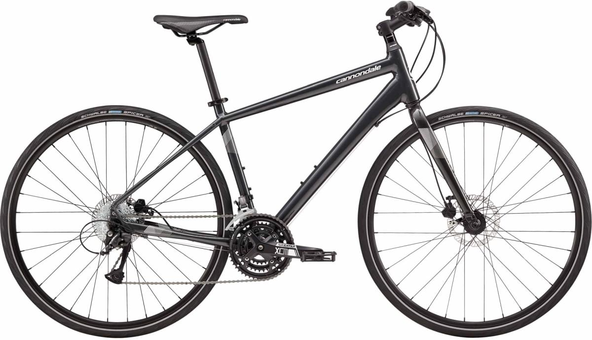 Cannondale Quick 5 Disc - Nearly Black w/ Magnesium White, Fine Silver, Reflective Detail - Gloss (N M
