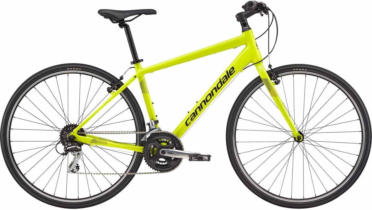 Cannondale Quick 7 - Neon Spring, w/ Jet Black, Charcoal Gray, Reflective Detail - Gloss (NSP) L