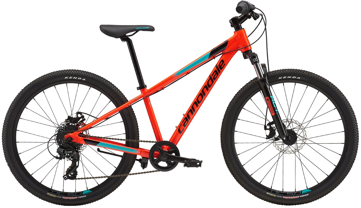 Cannondale Trail 24 Boy's - Acid Red w/ Jet Black and Turquoise, Gloss (ARD) uni