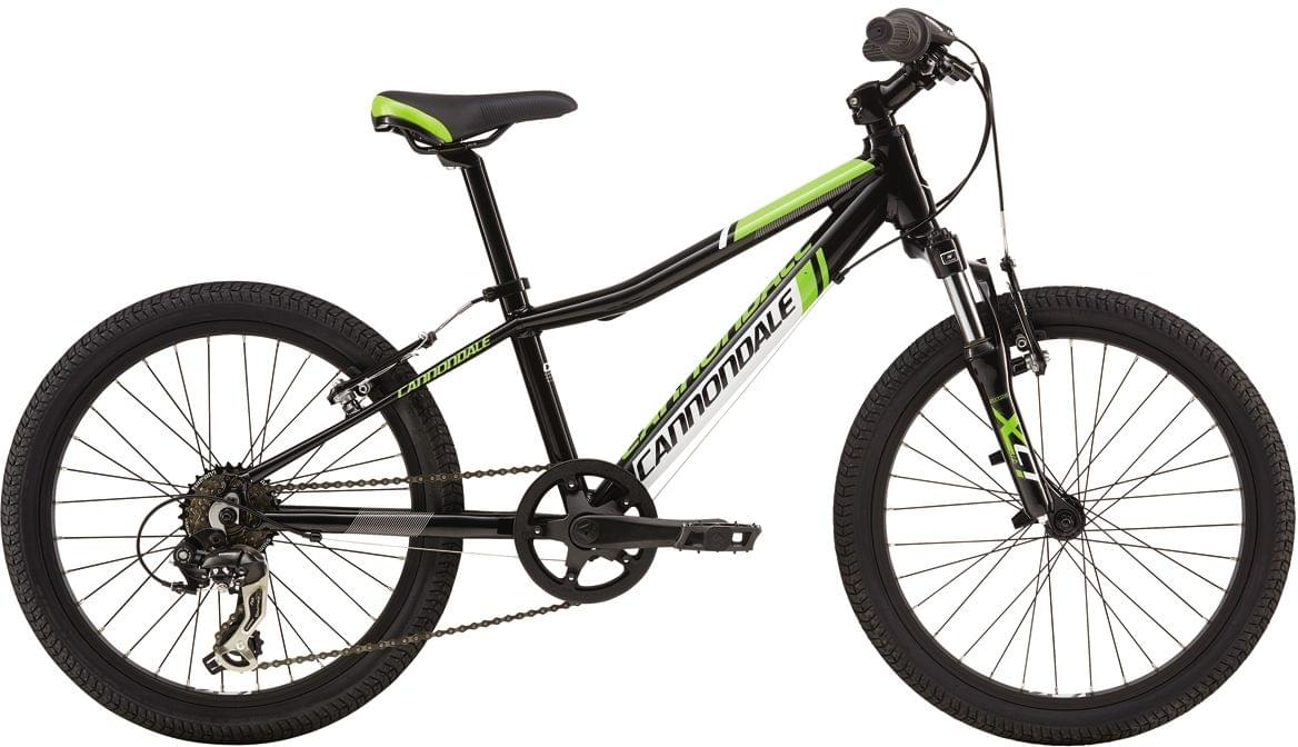 "Cannondale Trail 20"" Boys - jet black w/berserker green and magnesium white, gloss uni"