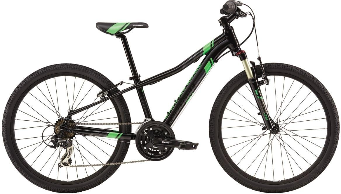 "Cannondale Race 24"" Boys - jet black w/viserker green and nearly black, gloss uni"