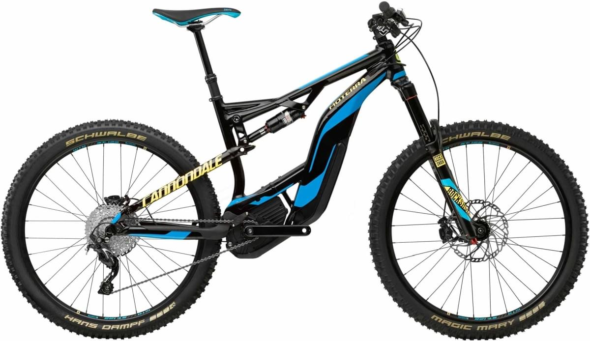 Cannondale Moterra LT 2 - Jet Black w/ Ultra Blue and Neon Spring - Gloss (BLU) M