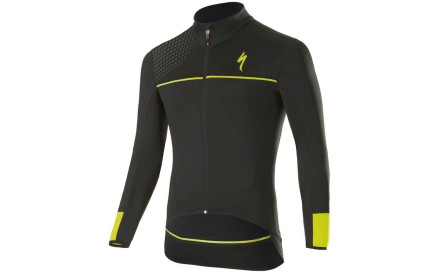 Cyklistický dres Specialized Element SL Elite Race Jersey LS - black neon  yellow bb82afc541