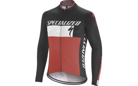 e82402d3c46 Cyklistický dres Specialized Therminal Rbx Comp Logo Jersey LS -  black white red