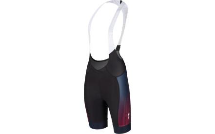 Dámské cyklistické kalhoty Specialized Sl Pro Bib Short Wmn - black line  fade acid red Dámské cyklistické kalhoty Specialized Sl Pro Bib Short W.. f51489d7ba