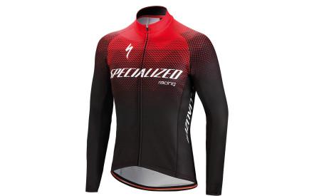 Cyklistický dres Specialized Therminal SL Team Expert Jersey LS - black red af639899b3