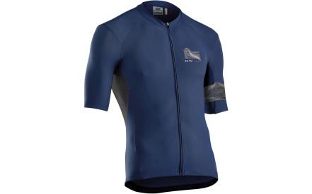 Cyklistický dres Northwave Extreme 3 Jersey Short Sleeves - Blue 4bca872882