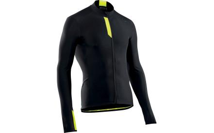 Dres s dlouhým rukávem Northwave Fahrenheit Jersey Long Sleeves - black  yellowflu 77db012256