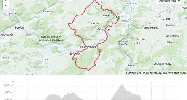 SBCRoute Ořech, Karlické údolí, Řevničák | Road | 58km | 731m