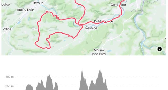SBCRoute Velká osma Amerika, Koněpruské jeskyně, Karlštejn) | silnice | 83km | 1121m