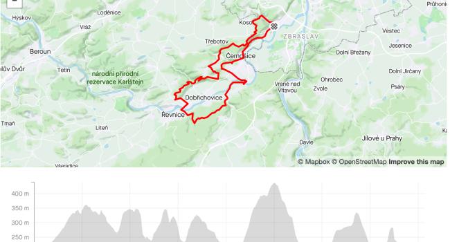SBCRoute Kosoř, Vonoklasy, Lety, Dobřichovice | MTB | 41km | 985m