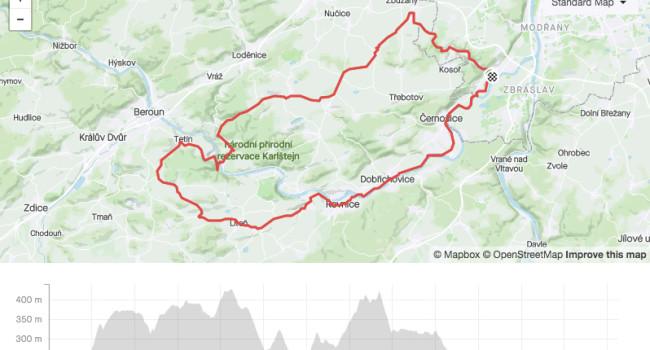 SBCRoute Zbuzany, Tětín, Řevnice | Road | 65km | 858m