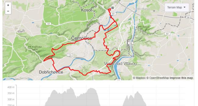 SBCRoute Zbraslav, Všenory, Vonoklasy | MTB | 36km | 716m