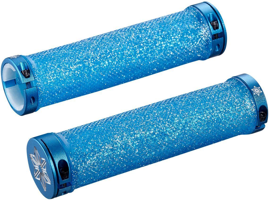 Supacaz Diamond Kush - Neon Blue w/ Blue DH Star Ringz uni