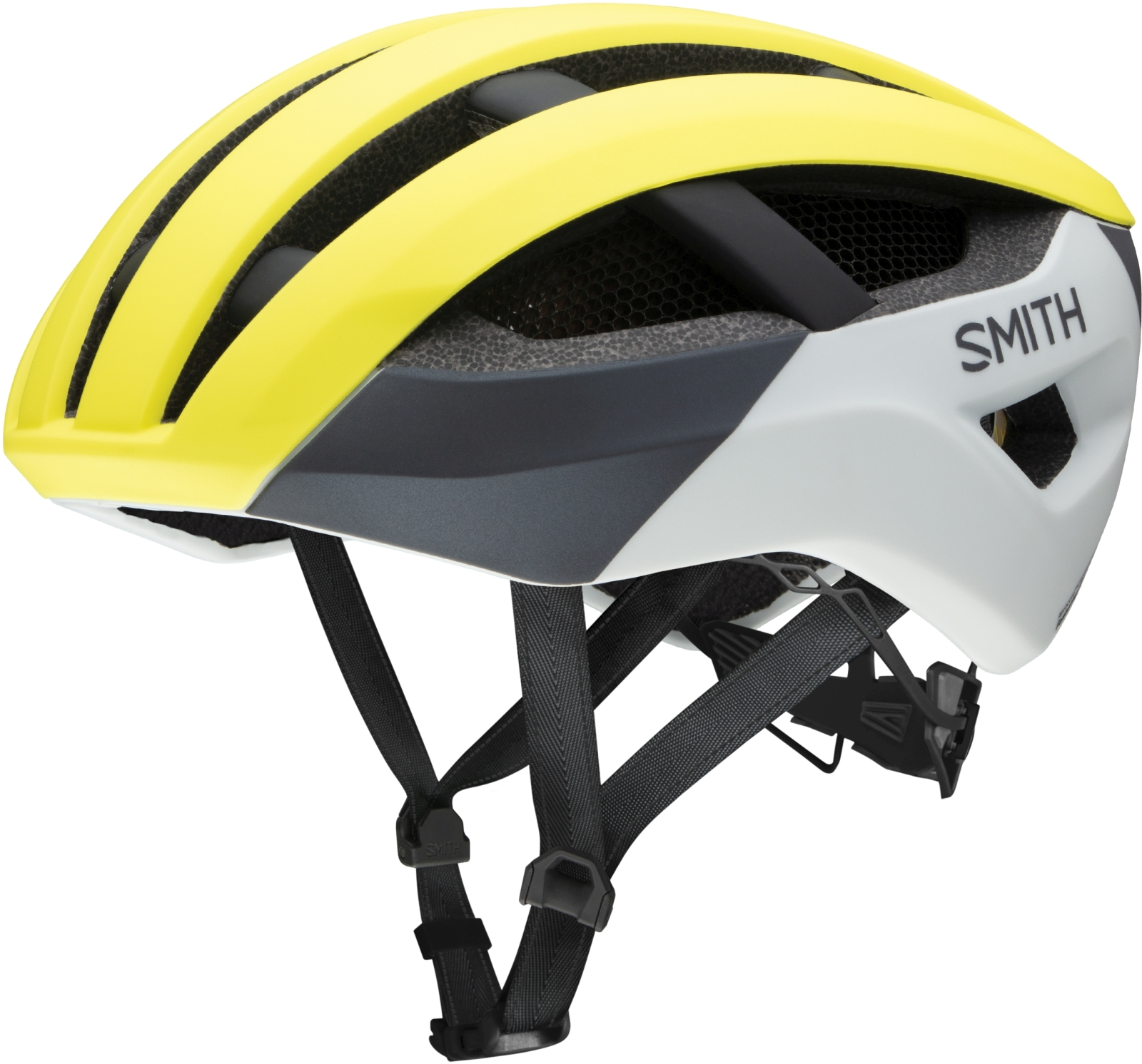 Smith Network MIPS  - matte neon yellow viz 55-59