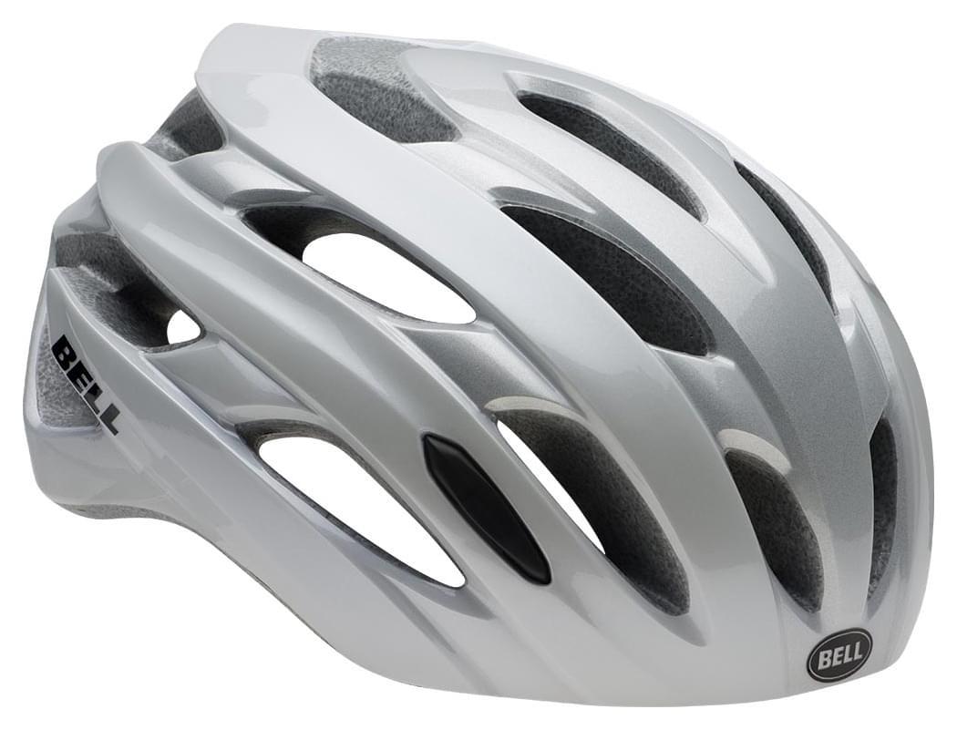 Cyklistická přilba Bell Event - white/silver road block S
