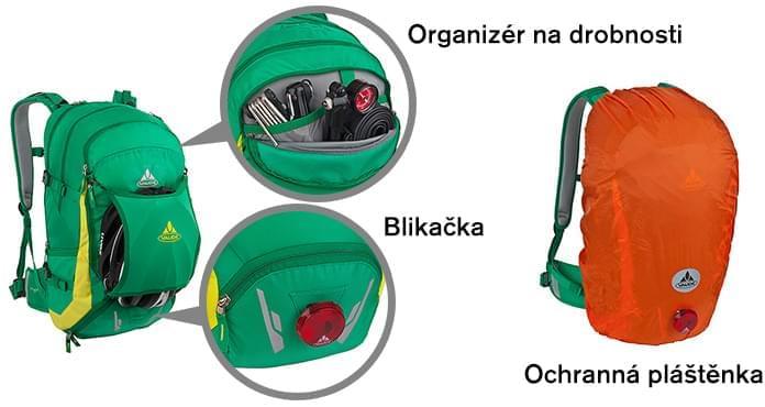 127730d5fb Příjemná je i možnost uchycení cyklistické helmy vně batohu