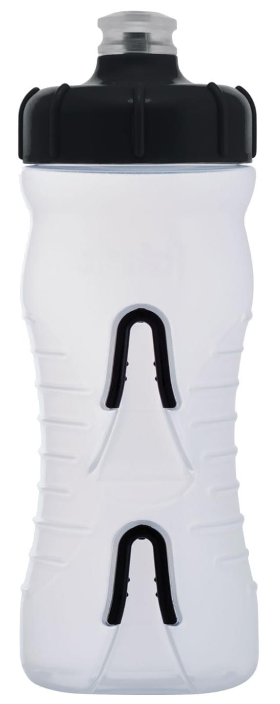Fabric láhev 600ml - Clear/Black Cap uni