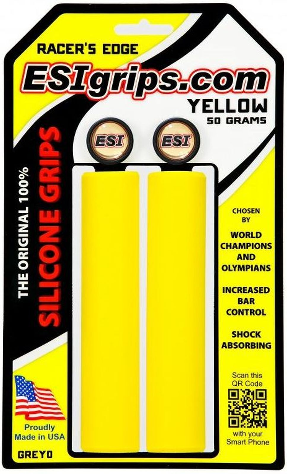 ESI Grips Racer's Edge - yellow uni
