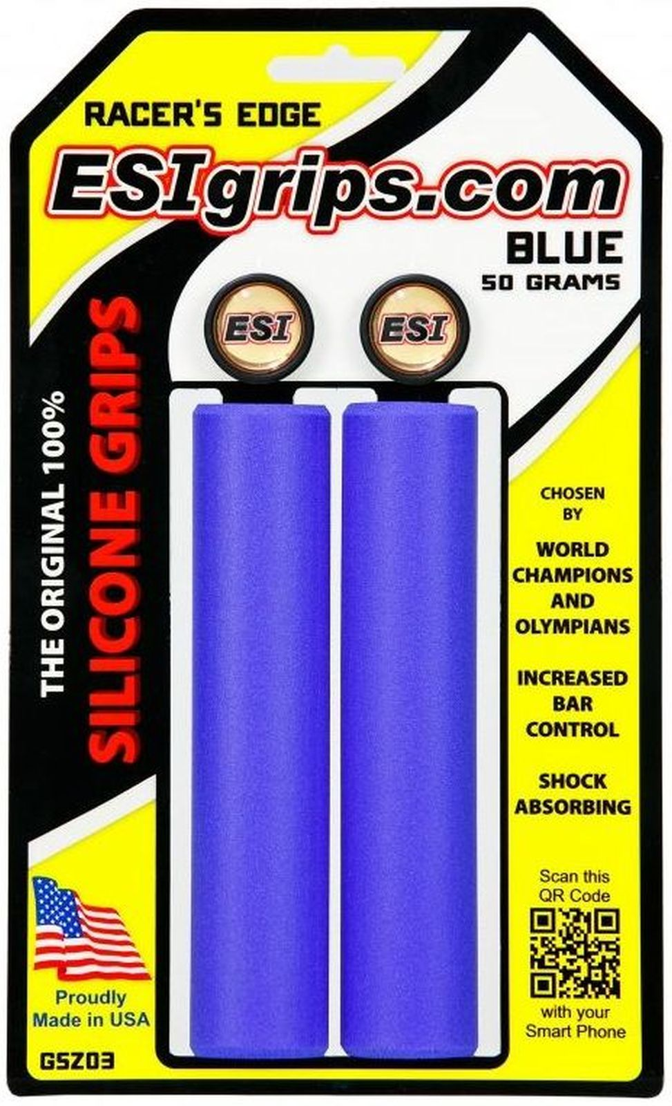 ESI Grips Racer's Edge - blue uni