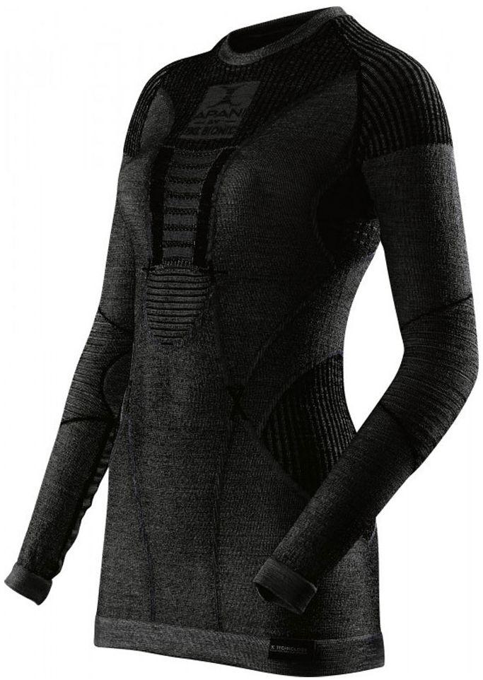 Dámské funkční tričko Apani Merino By X-Bionic Fastflow Shirt Long Round  Neck Women - Black Black fbd82f8ee0