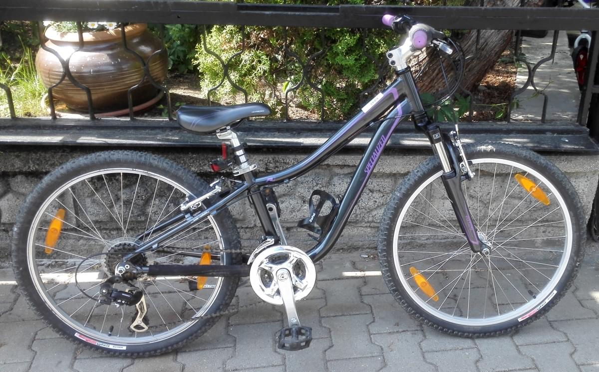 3c35b64d43c Bazar - dětské kolo Specialized Hotrock 24 21 SPD charcoal purple ...